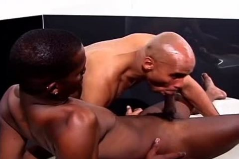 delicious Masseur Rubs Some Chocolate Sauce Into A Chocolate butthole
