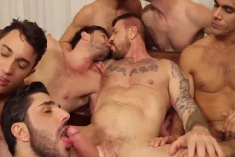 ROCCO orgy-10 man IN ACTION,suck,pound & spooge-WOW!
