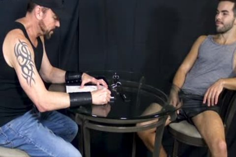 Bottom man Riley Ross Blindfolded And Face-nailed