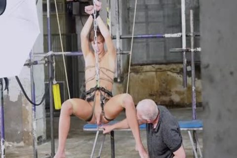 gay twink Sub Endures coarse anal sex From Deviant slavemaster