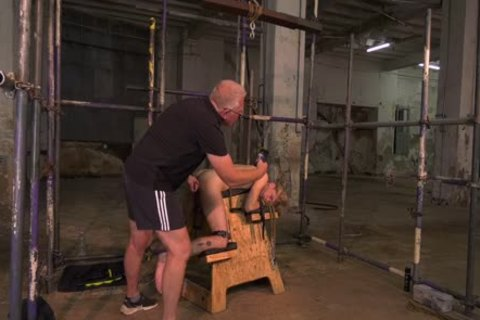 pliant young homosexual Submits To master For Clamp Torturing