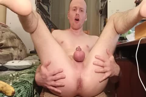 LanaTuls - anal hammering And Stretching With Banana And dildo