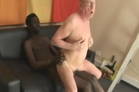grandad engulfing & Getting fucked By large darksome penis