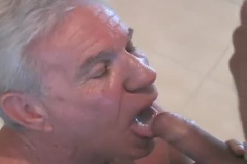enchanting grandad sucking & Getting poked By Younger chap
