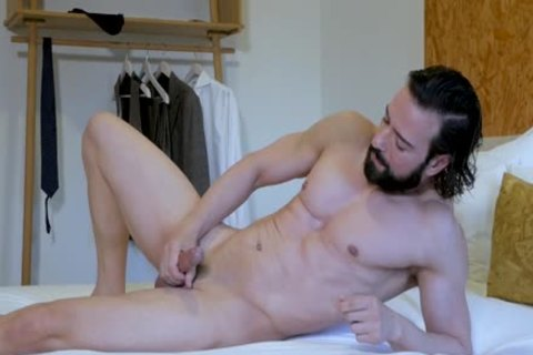 sexy Suited lad stroking