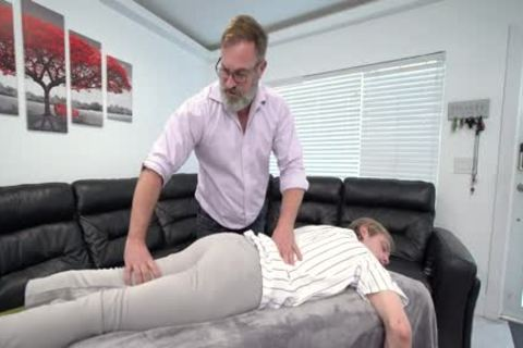 pumped up lad Massaged And banged By Stepdad