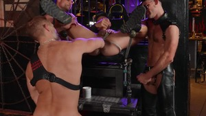 Tom Of Finland: Leather Bar Initiation - Dirk Caber with Kurtis Wolfe American slam