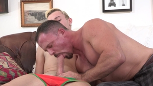 FamilyDick - Neighbor Ryan Evans jerking penis in the bed