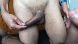 LatinLeche: Hawt giving head for uncut dick