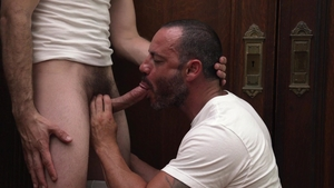MissionaryBoys: Nervous colleague President Lewis needs bound