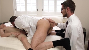 MissionaryBoys: Huge balls Austin Xanders sex with toys