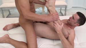 Missionary Boys: Muscled Elder White gay 3some sex tape