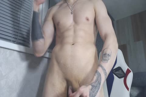 21yo lad Alex Stroking His lovely penis And discharge A Load