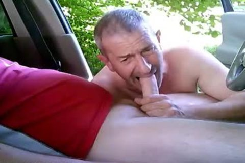 concupiscent gay fellows On Car Have Some Public And Outdoor Sex