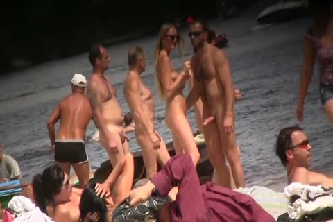 SPYING ON naked fellows AT THE NUDIST BEACH - VOL 1