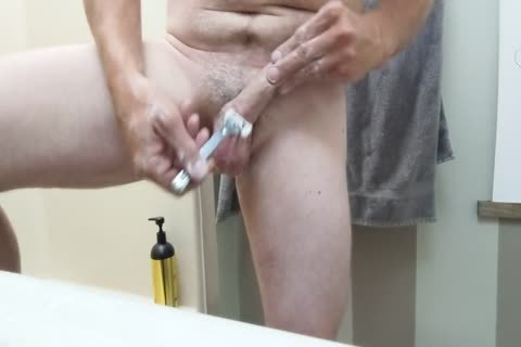 Shaving And Oiling My knob And Balls, Plus Light CBT
