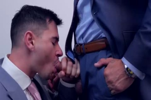 Muscle gay ass slam Suit cumshot