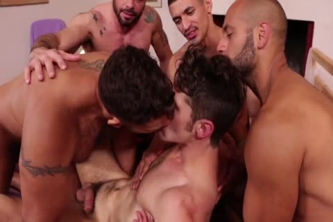 Super juicy bunch group-sex - stallions Fervently bang Devin Franco