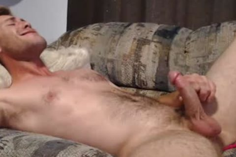 Blond lad Masturbates And Swallows His Own ball cream