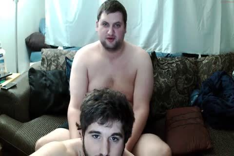 Two chubby Buddies, Giving Each Other bj, One homosexual One str8