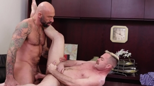 IconMale.com - Tattooed Trent Atkins cheating handjob