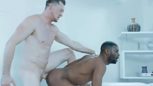 NoirMale.com - Pierce Paris with brown hair Taye Scott rimjob