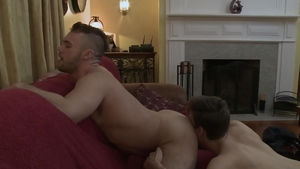IconMale - Hard slamming beside hairy college guy Blaze Austin