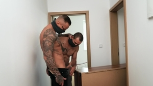 Black haired Ryan Cage together with Luke bareback ass fuck