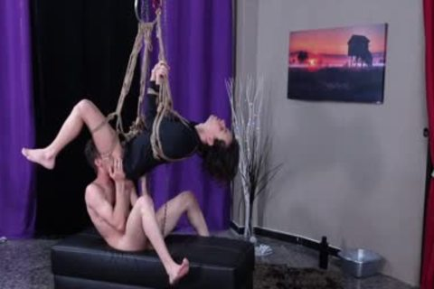 Latin butthole Destroyed And Bred Whilst Suspended In Ropes