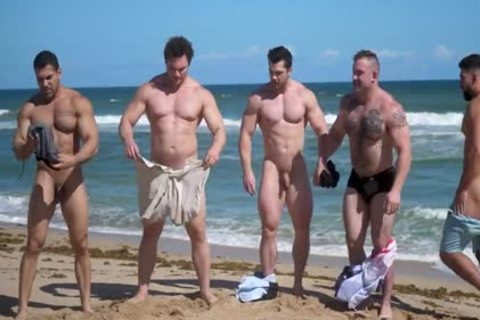Muscle men nude Beach