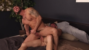 Next Door Raw - Rimming porn among inked bareback Johnny Hill