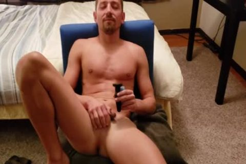 Boris jerking off With ass-plug