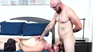 Extra Big Dicks - Jack Winters & gay Dustin Steele gagging