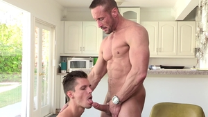 Dylan Lucas - Super sexy Myles Landon plowed by big cock daddy