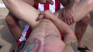 Pride Studios - Wet Leo Luckett jerking big cock outdoors