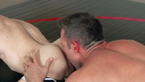 Hot House - Alex Mecum in uniform bareback masturbating