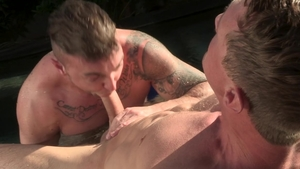 FalconStudios.com: Tattooed Jake Ashford with Pierce Paris