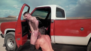 FalconStudios: Fane Roberts next to Alex Mecum craving 69