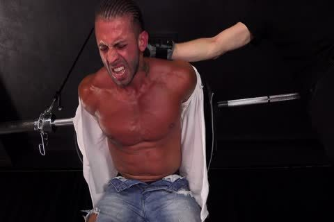 Straight fresh Muscle guy Takes hardcore bdsm torment
