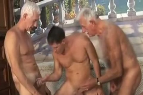 Two old man With fresh boy