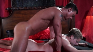 Falcon Studios - Taylor Reign wearing panties with Cade Maddox