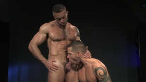 Raging Stallion: Inked Shane Frost fucked anal rimming