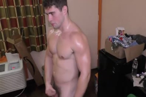 handsome bushy Muscle Oiled Solo
