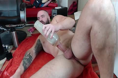 Muscle Bull plow Flashlight And sperm To His underclothing