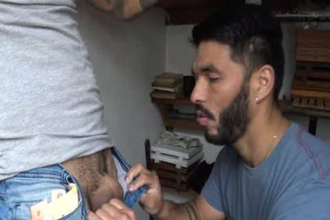 Latin Stranger receives cash In Exchange To His Tattoed butthole