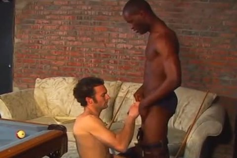 cute interracial on a pool table